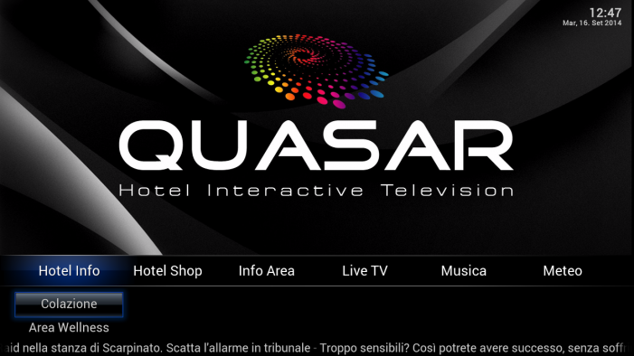 QUASAR home page with logo